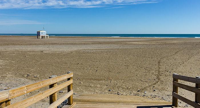 Der Strand von Gruissan