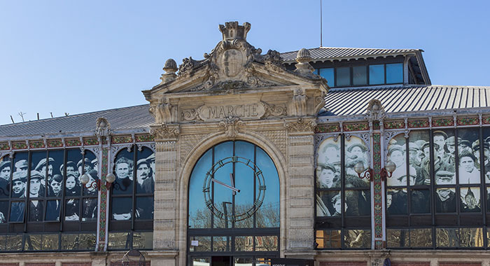 The market hall of Narbonne